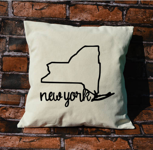 New York Name Pillow