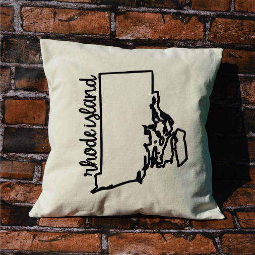 Rhode Island Name Pillow