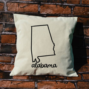 Alabama Name Pillow