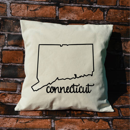 Connecticut Name Pillow