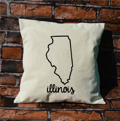 Illinois Name Pillow