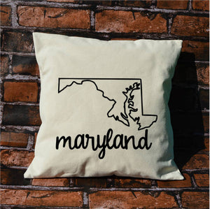 Maryland Name  Pillow