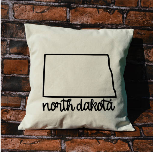 North Dakota Name Pillow