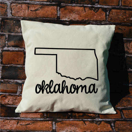 Oklahoma Name Pillow