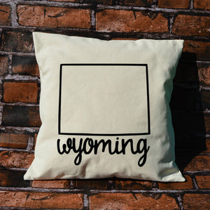 Wyoming Name Pillow