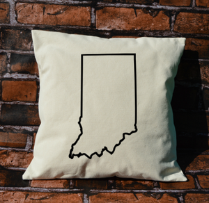Indiana outline pillow