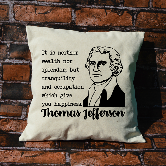 Thomas Jefferson pillow