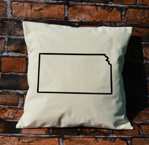 Kansas outline pillow