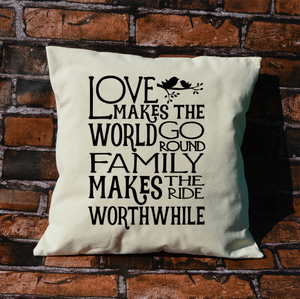Love Makes The World Go Round Pillow