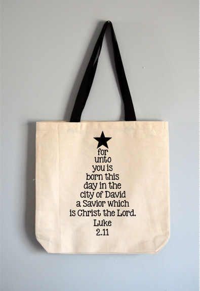 Luke Christmas Tree Tote Bag