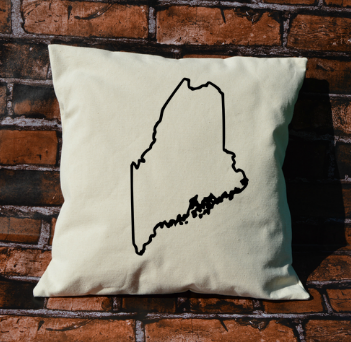 Maine outline pillow