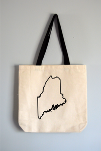 Maine Outline Tote Bag