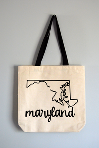 Maryland Name Tote Bag