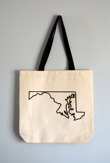 Maryland Outline Tote Bag