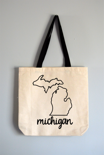 Michigan Name Tote Bag