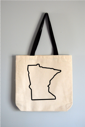 Minnesota Outline Tote Bag