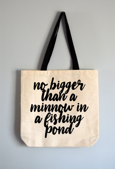 Minnow In A Fishing Pond Tote Bag