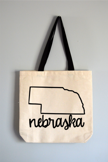 Nebraska Name Tote Bag