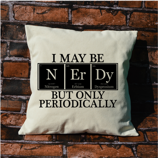Nerdy Chemistry Pillow