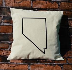 Nevada outline pillow