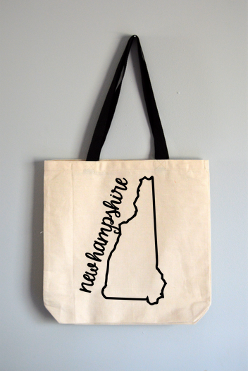 New Hampshire Name Tote Bag