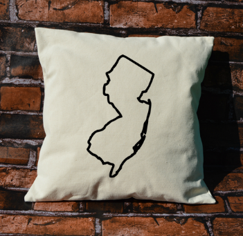 New Jersey outline pillow