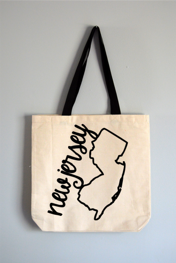 New Jersey Name Tote Bag