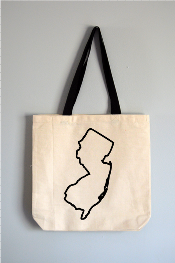 New Jersey Outline Tote Bag