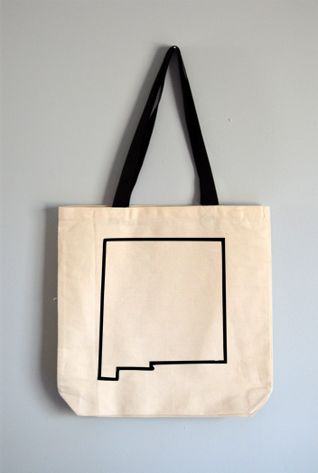 New Mexico Outline Tote Bag
