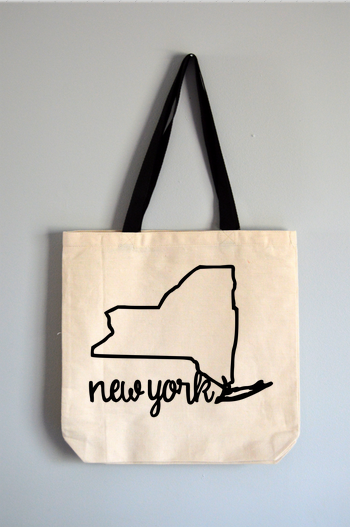 New York Name Tote Bag