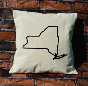 New York outline pillow