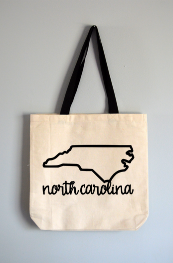 North Carolina Name Tote Bag