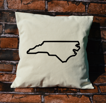 North Carolina outline pillow