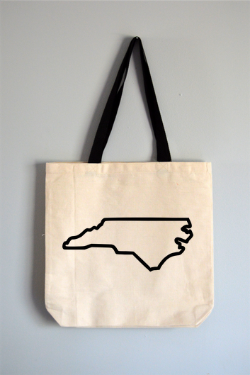 North Carolina Outline Tote Bag
