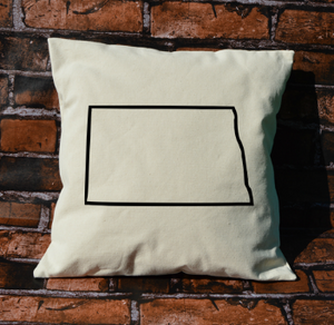 North Dakota outline pillow