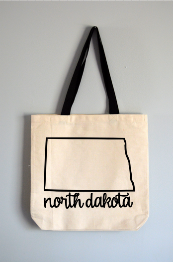 North Dakota Name Tote Bag
