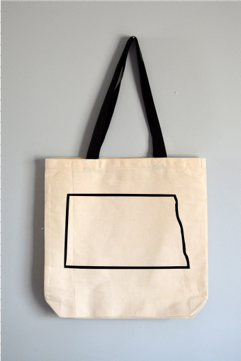North Dakota Outline Tote Bag