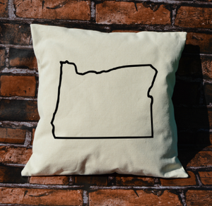 Oregon outline pillow