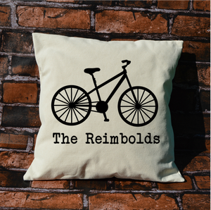 Personalized Bike Pillow