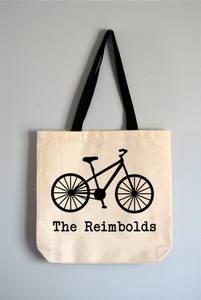 Personalized Bike Tote Bag