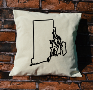 Rhode Island outline pillow