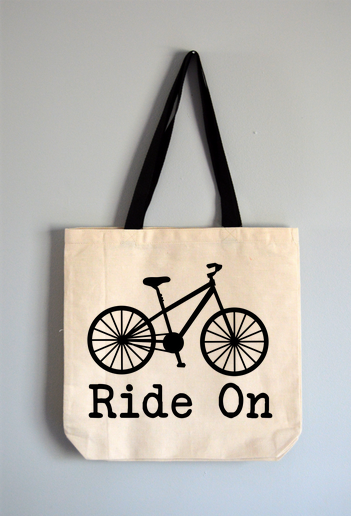 Ride On Bike Tote Bag