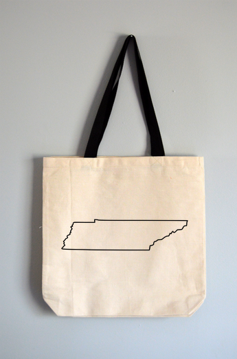 Tennessee Outline Tote Bag