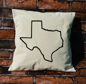 Texas outline pillow