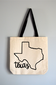 Texas Name Tote Bag