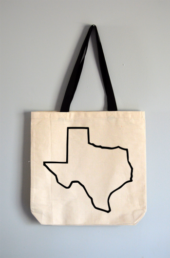 Texas Outline Tote Bag