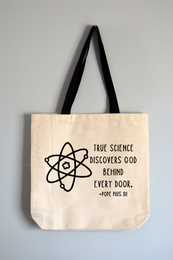 Science and God Tote Bag