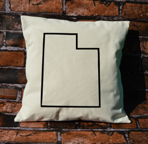 Utah outline pillow