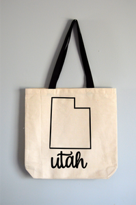 Utah Name Tote Bag