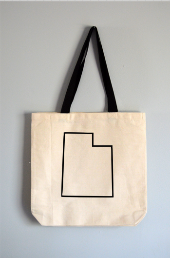 Utah Outline Tote Bag